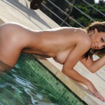 Aimee Luis – Pool Babe Stripping Nude - 19