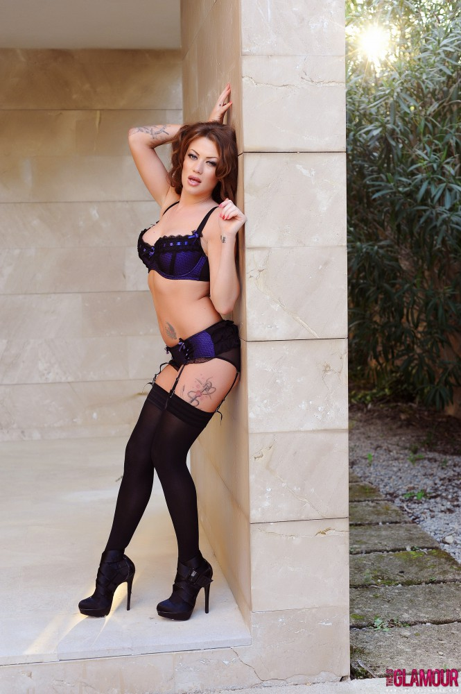 Becky Holt – Becky In Blue Lingerie And Stockings