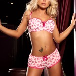 Caprice Jane – Pink And White Cute Lingerie - 4