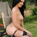Becky Hey – Black Lingerie And Stockings Stripping Nude - 20