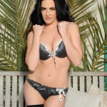 Becky Hey – Strips From Her Lingerie And Plays With Her Stockings - 2