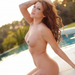 Becky Holt – Slips Out Of Her Bikini And Gets Naked By The Pool - 13