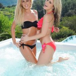 Candice Collyer And Steph Wright In The Jacuzzi - 0