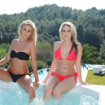Candice Collyer And Steph Wright In The Jacuzzi - 3