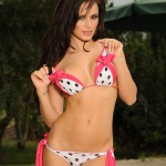Gemma Massey – Pink And Black Polka Dot Bikini - 15