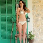 Jo Bosley – White And Gold Bikini - 0