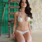 Jo Bosley – White And Gold Bikini - 8