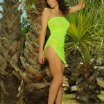 Kirsty Corner – Seethru Green Dress And Green G-string - 0