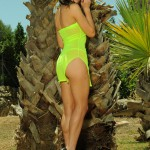 Kirsty Corner – Seethru Green Dress And Green G-string - 1