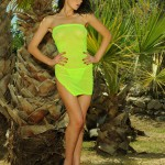 Kirsty Corner – Seethru Green Dress And Green G-string - 2