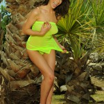 Kirsty Corner – Seethru Green Dress And Green G-string - 4