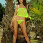 Kirsty Corner – Seethru Green Dress And Green G-string - 9