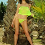 Kirsty Corner – Seethru Green Dress And Green G-string - 11