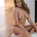 Leah Francis – Black Bra And Thong By The Fire - 22