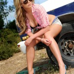 Leah Francis – Strips From Her Shirt Tight Shorts And Lingerie - 16