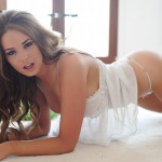 Liberty Parisse – White Teddy With Stockings - 12