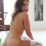 Liberty Parisse – White Teddy With Stockings - 18