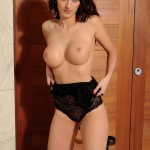 Lucy P – Stripping Nude From Her Black Lingerie - 10