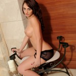 Lucy P – Stripping Nude From Her Black Lingerie - 13