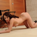 Lucy P – Stripping Nude From Her Black Lingerie - 22