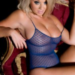 Melissa Debling – Blue Bodysuit And G-string - 10