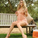 Rachel Mcdonald – Strips From Her Summer Dress In The Garden - 0
