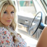 Rosy Obrian – Floral Top With Denim Shorts - 5