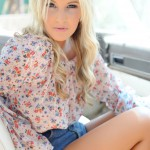 Rosy Obrian – Floral Top With Denim Shorts - 6
