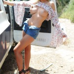 Rosy Obrian – Floral Top With Denim Shorts - 15