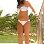 Sarah Longbottom – White And Silver Bikini - 10