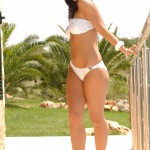 Sarah Longbottom – White And Silver Bikini - 11