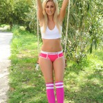 Steph Wright – White Top And Y Fronts On The Swing - 4