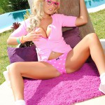 Tommie Jo Strips Naked From Her Cute Pink Outfit - 3