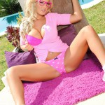 Tommie Jo Strips Naked From Her Cute Pink Outfit - 4