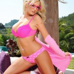 Tommie Jo Strips Naked From Her Cute Pink Outfit - 11
