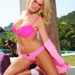 Tommie Jo Strips Naked From Her Cute Pink Outfit - 13