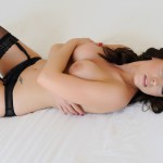 Jo Bosley – Sexy Black Lingerie With Stockings - 17