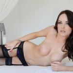 Jo Bosley – Sexy Black Lingerie With Stockings - 19