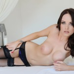 Jo Bosley – Sexy Black Lingerie With Stockings - 20
