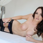 Jo Bosley – Sexy Black Lingerie With Stockings - 21