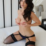 Jo Bosley – Sexy Black Lingerie With Stockings - 23