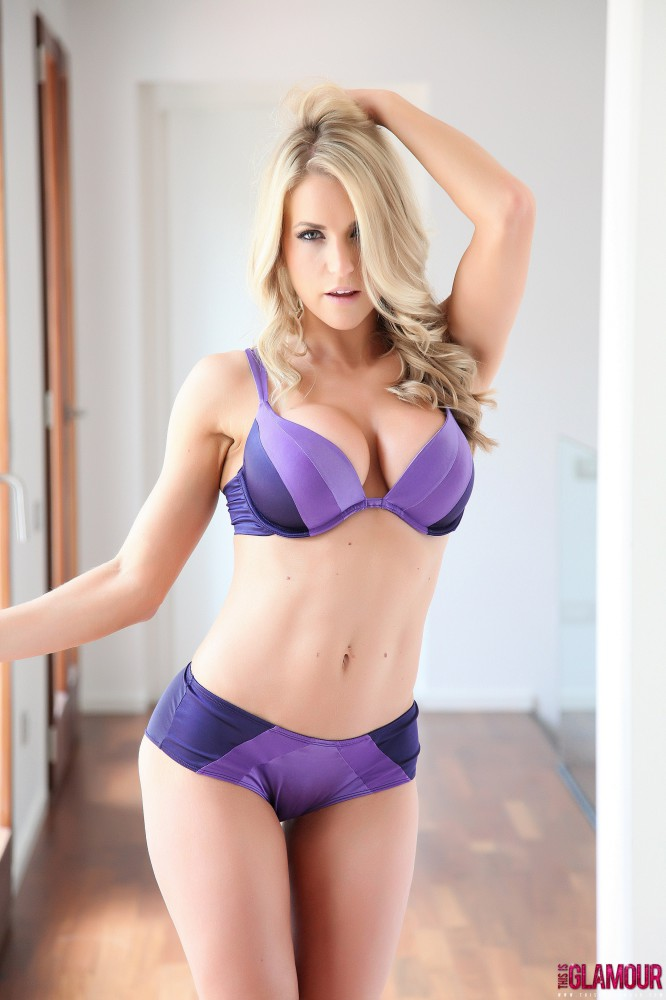 Kayleigh P – Purple Bra And Panties