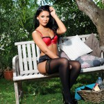 Sam Grierson – Sam Peels Off Her Red And Black Lingerie - 8