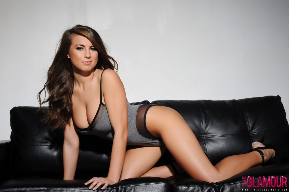Sarah Mcdonald – Sarah Strips From Her Grey Bodysuit
