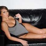 Sarah Mcdonald – Sarah Strips From Her Grey Bodysuit - 4