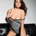 Sarah Mcdonald – Sarah Strips From Her Grey Bodysuit - 6