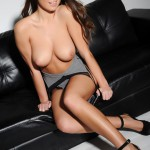 Sarah Mcdonald – Sarah Strips From Her Grey Bodysuit - 14