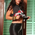 Ivy Nedkova – Clash Top With Tight Pants And Black Lingerie - 0