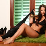 Ivy Nedkova – Clash Top With Tight Pants And Black Lingerie - 9