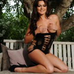 Kat Dee Strips Nude From Her Tight Black Dress - 8